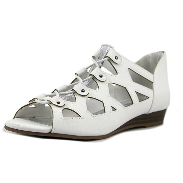 Easy Street Savvy Women Open Toe Leather White Sandals