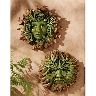 Design Toscano The Somerset Greenwoman & Greenman Sculptures