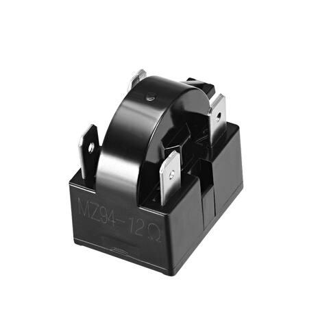 12 Ohm 4 Pin Refrigerator PTC Starter Relay Black - 12 Ohm 4 Pin