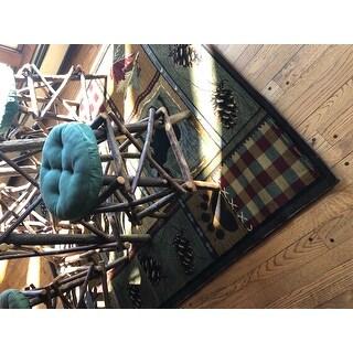 Alise Rugs Natural Lodge Novelty Lodge Area Rug - 5'3 x 7'3