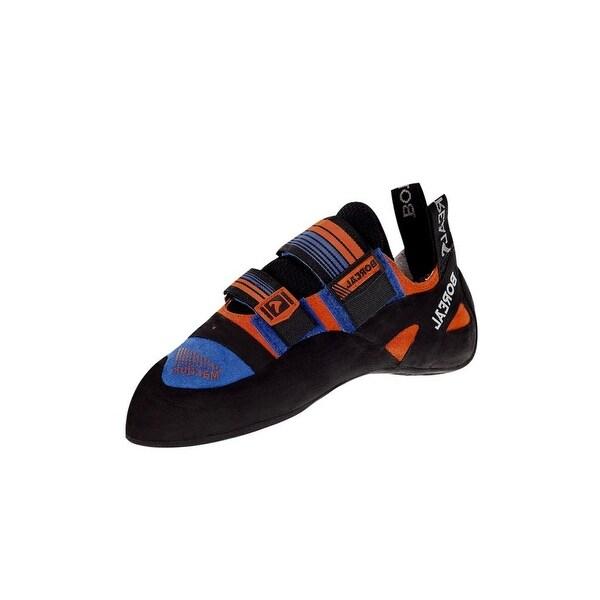 Boreal Climbing Shoes Mens Marduk Leather Black Blue Orange