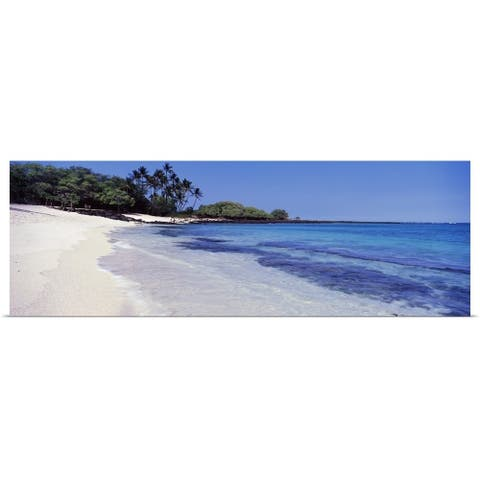 """Surf on the beach, Mahaiula Beach, Kekaha Kai State Park, Kona District, Hawaii"" Poster Print"