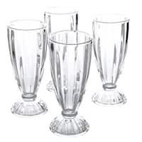 General Store by Gibson Set of 4 Embossed 12 oz. Milkshake Glasses