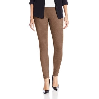 Karen Kane NEW Brown Taupe Women's Size Small S Faux-Suede Pants