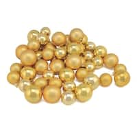 "50ct Vegas Gold Shatterproof Shiny and Matte Christmas Ball Ornaments 1.5""-2"""