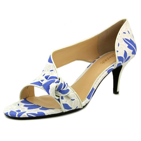 J. Renee Jaynnie Blue/WHite Sandals