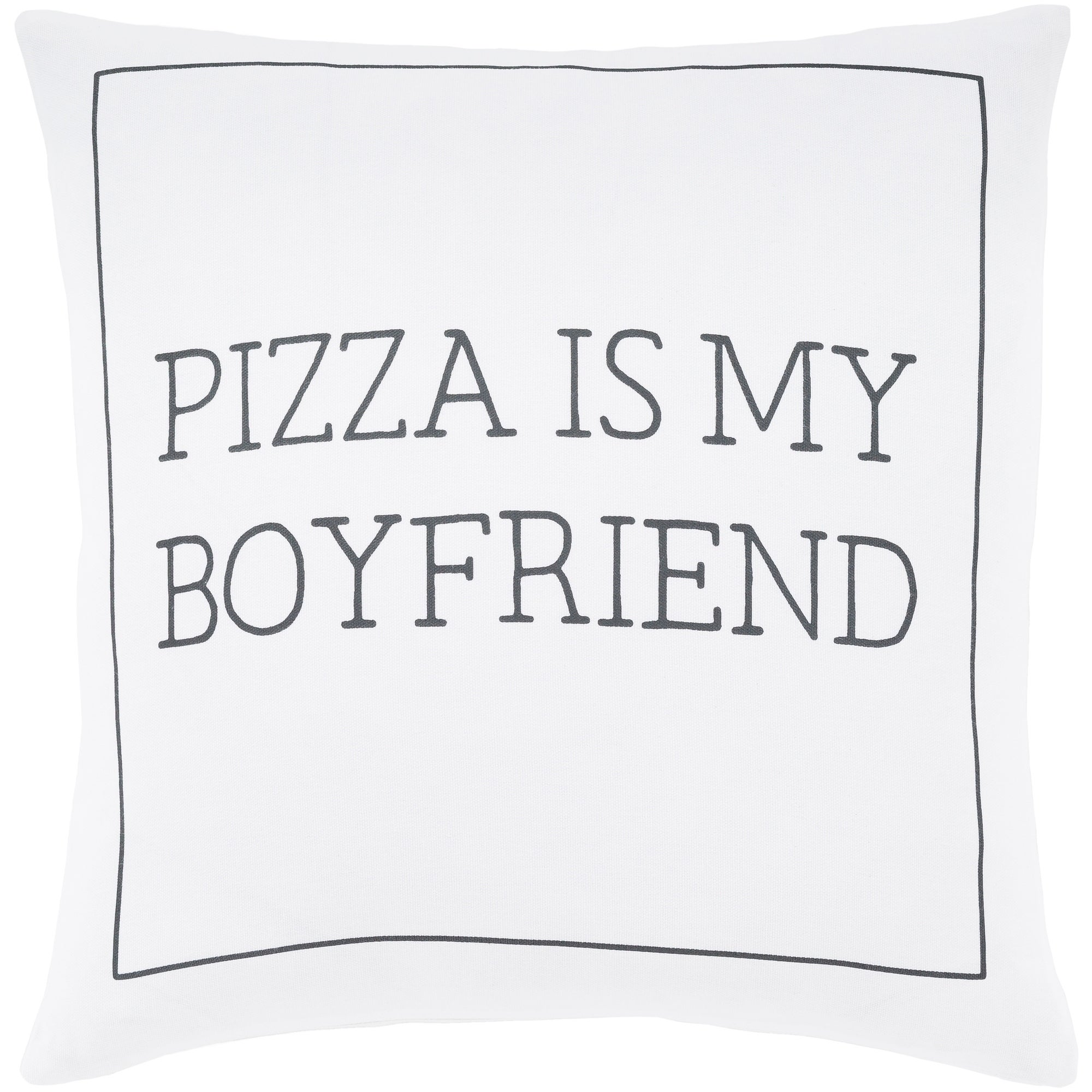 Pielife White Pizza Throw Pillow Cover 22 X 22 Overstock 23144119