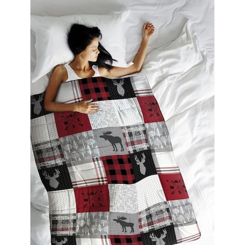 Weighted Blanket Forest Patchwork