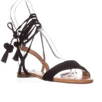 I35 Ganice2 Two-Piece Lace-Up Sandals, Black