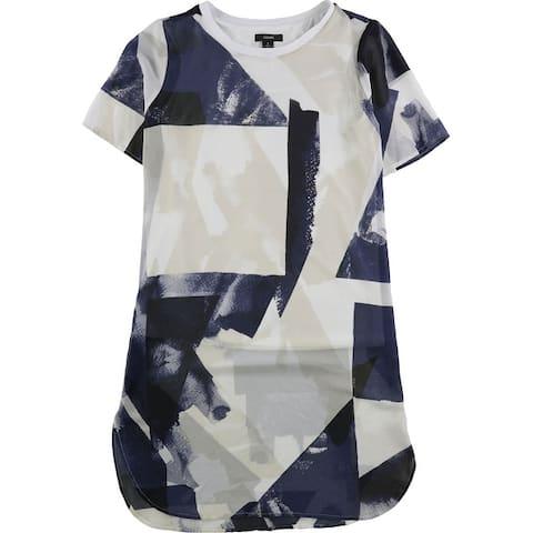 Alfani Womens Illusion Tunic Blouse