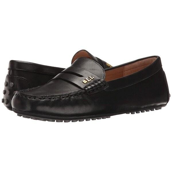LAUREN by Ralph Lauren Womens Belen Leather Closed Toe Casual Slide Sandals