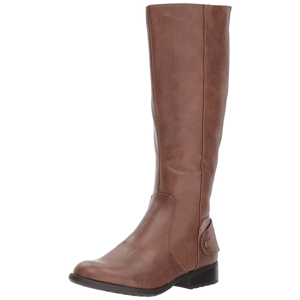 LifeStride Womens XANDY Round Toe Knee High Riding Boots, Grey, Size 6.0