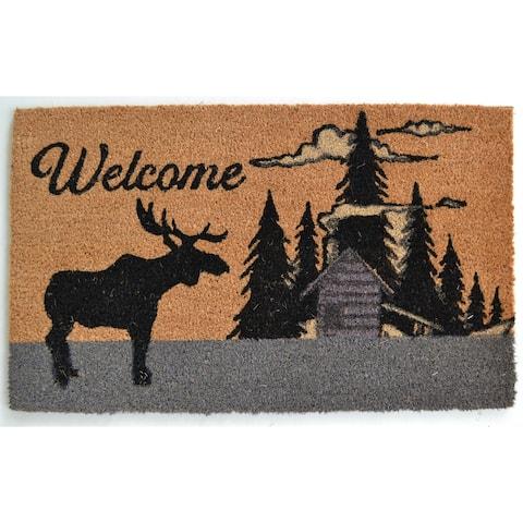 Moose Silhouette Outdoor DoorMat