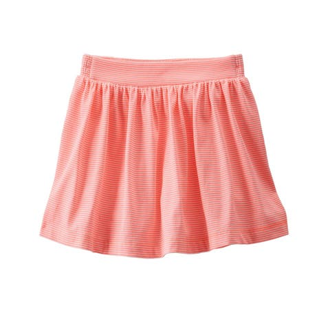 OshKosh B'gosh Baby Girls' Striped Jersey Scooter Skirt - Coral/White Striped