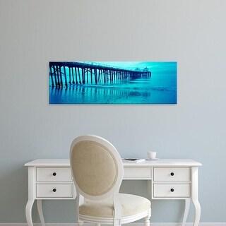 Easy Art Prints Panoramic Image 'Pier at sunset, Malibu Pier, Malibu, Los Angeles County, California, USA' Canvas Art