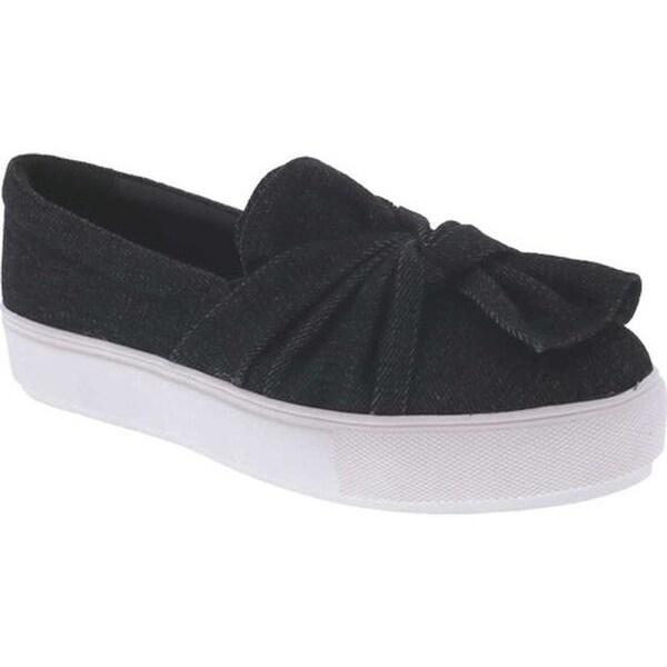 09cc044ab8fe Shop Bellini Women's Twist Sneaker Black Denim - Free Shipping Today ...