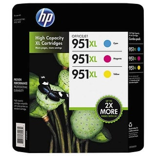 Link to HP 951XL High Yield Ink Cartridges C/Y/M 3-Pack - Multi-color Similar Items in Printers & Supplies