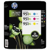 HP 951XL High Yield Ink Cartridges C/Y/M 3-Pack - Multi-color