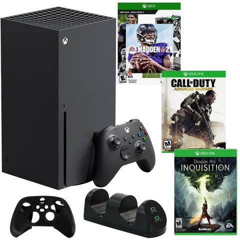 Xbox Series X 1TB Console with 3 Games and Accessories - Black