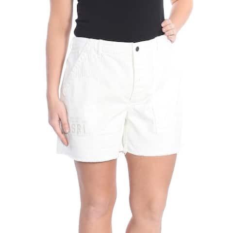 RALPH LAUREN Womens Ivory Short Size: 12
