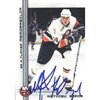 Mathieu Biron New York Islanders 2000 In The Game Be A Player Autographed Card  Rookie Card  This i