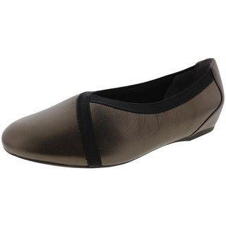 Rockport Womens Envelope Flats Leather Round Toe - 8 narrow (aa,n)