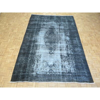 """Hand Knotted Gray Persian with 100% Wool Oriental Rug (8' x 11'9"""") - 8' x 11'9"""""""