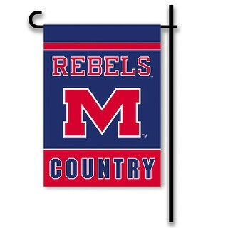 Bsi Products Inc Mississippi Rebels 2-Sided Country Garden Flag Garden Flag