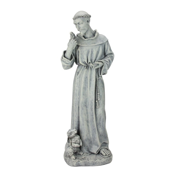 """24"""" Joseph's Studio St. Francis of Assisi Religious Outdoor Garden Statue - N/A"""