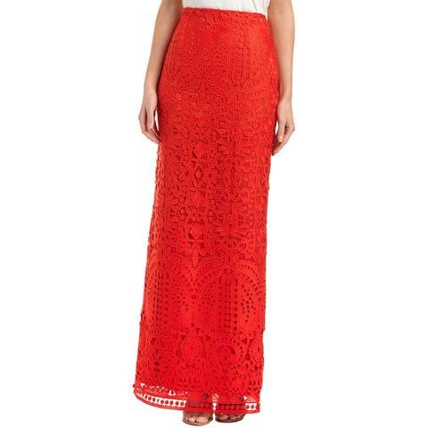 St. John Silk-Lined Skirt
