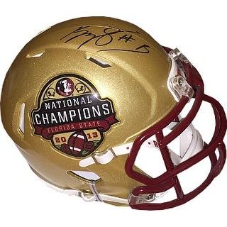 Kelvin Benjamin signed Florida State Seminoles Riddell Speed Mini Helmet #1 2015 National Championship Logo