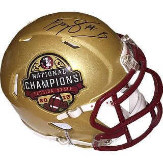 Kelvin Benjamin signed Florida State Seminoles Riddell Speed Mini Helmet 1 2015 National Championsh