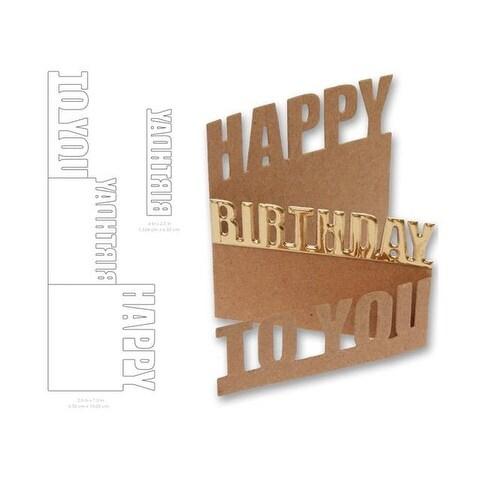 Little B Cutting Die Happy Birthday Card
