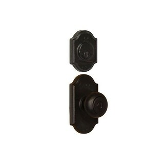 Weslock 7140F-7571 Single Cylinder Keyed Entry Wexford Door Knob Set and 7571 Deadbolt Combo Pack with Premiere Rosette From The