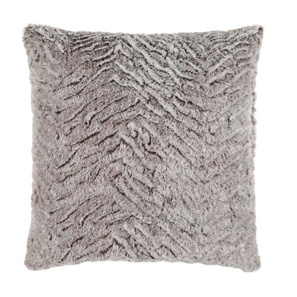 "20"" Mouse Gray and Flour White Woven Decorative Throw Pillow"