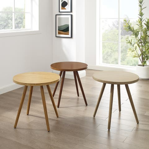 Corvus Lille Mid-century Bamboo Site End Table