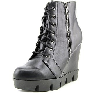 Mia Kendal Women Round Toe Synthetic Black Ankle Boot