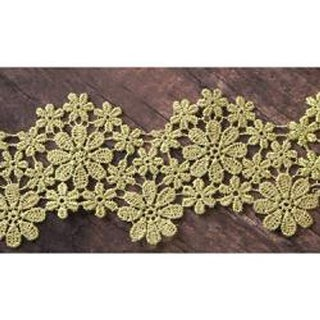 "Cours Mirabeau - Memory Hardware Floral Lace Trim 2""X1 Yards"