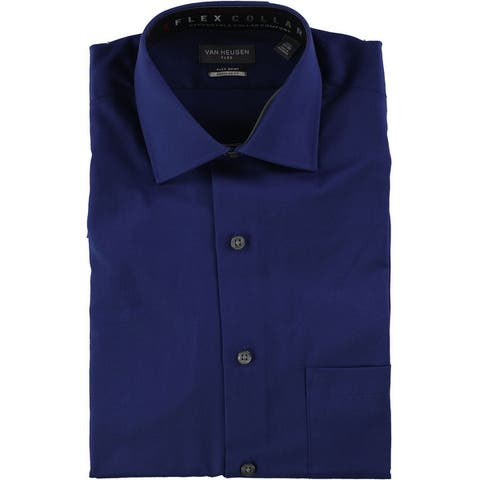 Van Heusen Mens Stretch Flex Button Up Dress Shirt