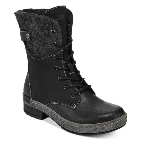 JBU by Jambu Womens Hemlock Encore Lace Up Boots Black