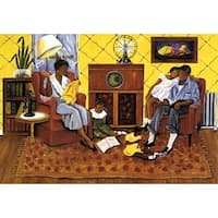 ''Sunday Evening Radio'' by Annie Lee African American Art Print (26.75 x 22.75 in.)