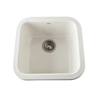 "Rohl 5927 18"" Allia Drop-In or Undermount Fireclay Bar Sink"