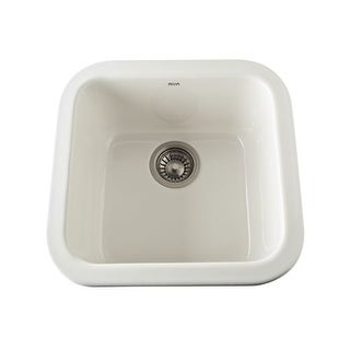"Rohl 5927 18"" Allia Drop-In or Undermount Fireclay Bar Sink"