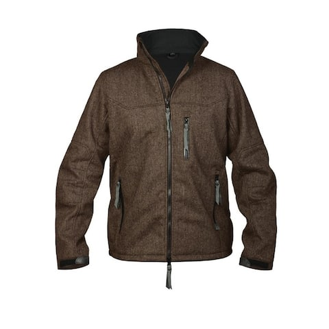 StS Ranchwear Western Jacket Mens Wool Line Stone Button Brown - Chocolate