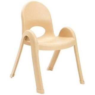 Angeles AB7713NT 13 in. Value Stack Chairs, Tan