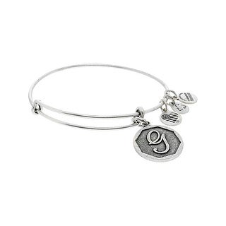 "Alex And Ani Women's G Initial Bracelet Bangle - 7"" - Silver"