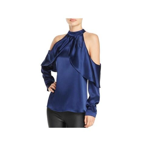 Parker Womens Sonelle Blouse Silk Cold Shoulder