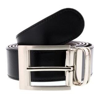 HS Collection HSB 1001 Black/Brown Reversible/Adjustable Mens Belt