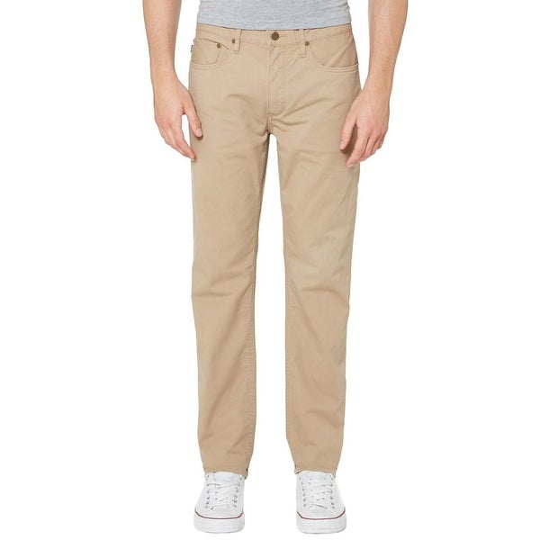 Polo Ralph Lauren Khaki Pants 32x30 Mens Slim Straight Stretch Fit Flat  Front 45e40902ae