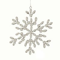 "6"" Glamour Time Silver Jeweled Snowflake Christmas Ornament"